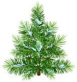 Pino lanuginoso verde di Natale in neve illustrazione di stock