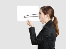 Pinocchio鼻子 免版税图库摄影