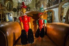 Pinocchio - πατέρας και γιος Στοκ Φωτογραφίες