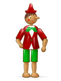 Pinocchio. Wooden italian toy a charachter of a fairy tail Pinocchio boy Royalty Free Stock Images