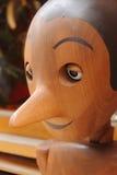 木意大利pinocchio的木偶 库存照片