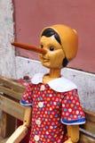 Pinocchio, de Italiaanse houten marionet Stock Afbeelding