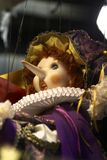 Pinocchio docka med den långa näsan Royaltyfri Fotografi