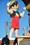 Pinocchio en un sueño viene verdad celebra desfile Imágenes de archivo libres de regalías