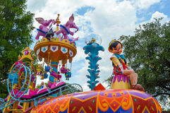 Pinocchio on a float from Festival of Fantasy parade Royalty Free Stock Image