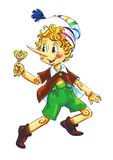 Pinocchio. Illustration of the fairy tale character Stock Image