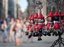Pinocchio keychain Royalty Free Stock Photo