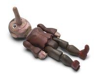 Pinocchio Laying Down Stock Photos