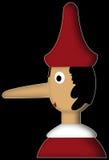 Pinocchio mit rotem Hut Stockfotografie