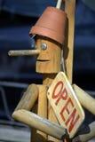 Pinocchio - open sign Stock Photos