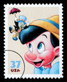 Pinocchio Postage Stamp Royalty Free Stock Photography
