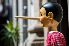 Pinocchio puppet made from wood Royalty Free Stock Photos