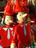 Pinocchio, red puppet Royalty Free Stock Photos