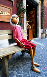 Pinocchio Rome. Humorous life size dummy of Pinocchio, complete with long nose Royalty Free Stock Photos