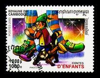Pinocchio, serie di storie del ` s dei bambini, circa 2000 Fotografia Stock Libera da Diritti
