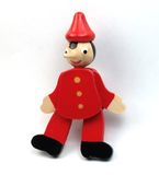 Pinocchio toy. Wood pinocchio toy over a white background stock images