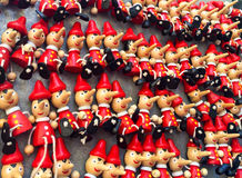 Pinocchio toys. Souvenirs in leon nero, Florence, Italy stock photography