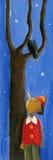 Pinocchio, Vogel und Baum Lizenzfreies Stockfoto