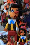 Pinocchio. Wooden toy found in Thassos Stock Images
