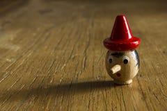 Pinocchiohoofd royalty-vrije stock afbeelding