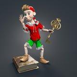 Pinocchiokarakter Stock Foto's