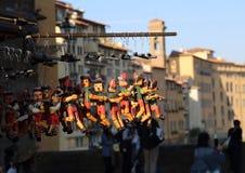 Pinocchiomarionetten voor verkoop in Florence, Italië Royalty-vrije Stock Afbeeldingen