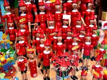 Pinocios na exposição Imagem de Stock Royalty Free