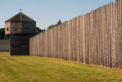 Pinoeer fortress with defense tower Fort Vancouver Stock Images