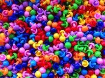 Pinos coloridos imagens de stock