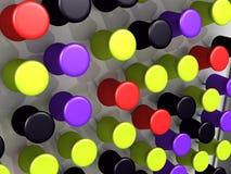 Pinos coloridos da placa da cortiça Fotografia de Stock