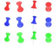 Pinos coloridos do impulso Imagem de Stock