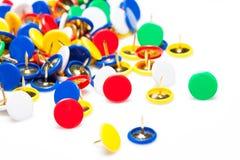 Pinos coloridos do impulso Foto de Stock
