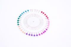 Pinos coloridos em uma forma do círculo Foto de Stock Royalty Free