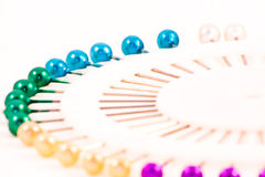 Pinos coloridos macro Imagem de Stock Royalty Free
