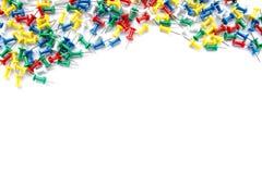 Pinos coloridos no fundo branco Foto de Stock Royalty Free