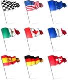 Pinos da bandeira Fotos de Stock