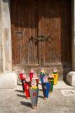 Pinos de boliches de Colorfull Fotografia de Stock Royalty Free