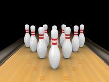 Pinos de bowling. ilustração stock