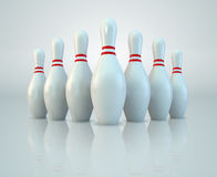 Pinos de bowling Fotos de Stock