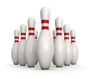 Pinos de bowling Fotos de Stock Royalty Free