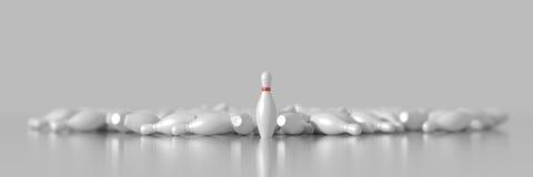 Pinos de bowling Fotografia de Stock