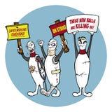 Pinos de bowling na batida Imagem de Stock Royalty Free