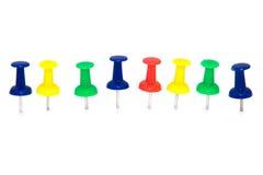 Pinos de desenho coloridos Foto de Stock