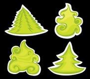 Pinos de la Navidad. Imágenes de archivo libres de regalías