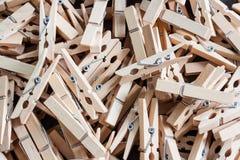 Pinos de roupa de madeira Imagem de Stock Royalty Free