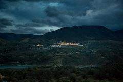 Pinos del Valle at night Stock Photography
