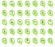 Pinos do mapa com imagens Fotografia de Stock