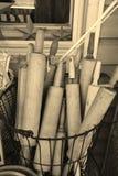 Pinos do rolo de madeira Imagem de Stock
