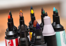 Pinos dos marcadores Imagens de Stock Royalty Free