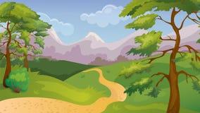 Pinos Forest Game Background stock de ilustración